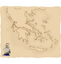 Greece map vector image vector image