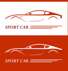 sports car coupe vehicle silhouette vector image vector image