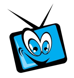 tv set cartoon vector image