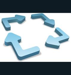 3d recycle arrows vector image