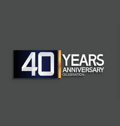 40 years anniversary logotype with blue vector