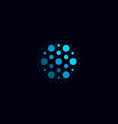 abstract water icon blue color unusual aqua logo vector image