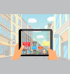 augmented reality marketing technology vector image