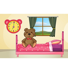 Bear on Bed vector
