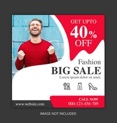 big sale social media banners vector image