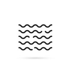 black water wave icon vector image