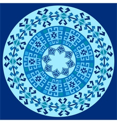 blue ottoman serial patterns one vector image