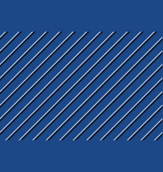 Blue striped background diagonal fabric texture vector