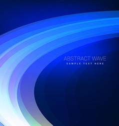 Blue wave flowing background vector