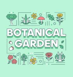 Botanical garden word concepts banner natural vector