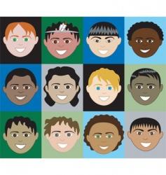 boys faces vector image