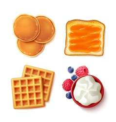 Breakfast food 4 to view items vector