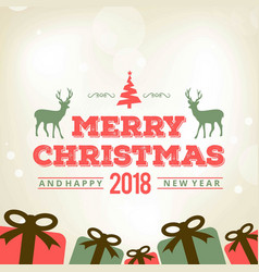 christmas greeting card with light background vector image