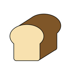 Colorful silhouette full bread foof vector