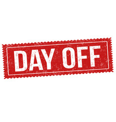 day off sign or stamp vector image