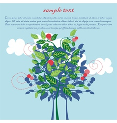 design for card with apple tree vector image