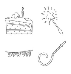 design of party and birthday logo set of vector image