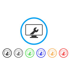 Desktop options rounded icon vector