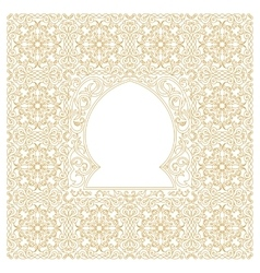 Eastern gold frames arch Template design vector image