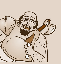 Eat barbarian vector