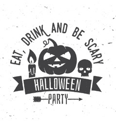 Eat drink and be scary vector