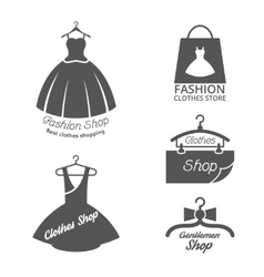 Fashion shop logos labels set vector