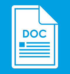 File doc icon white vector