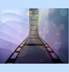 Filmstrip roll on abstract background vector