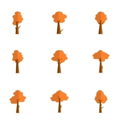 Flat of tree various vector