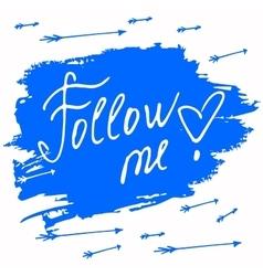 Follow me Social net on vector