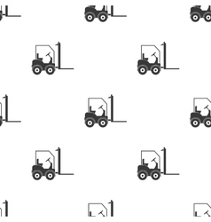 Forklift icon in black style isolated on white vector image