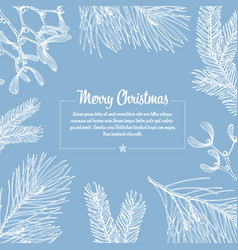 frosty christmas card vector image