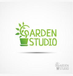 Garden studio logo vector