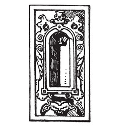 german renaissance architectural frame had a vector image