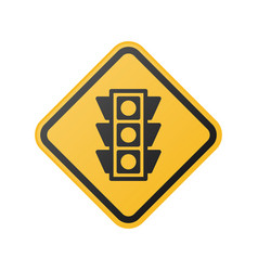 glossy light traffic sign vector image