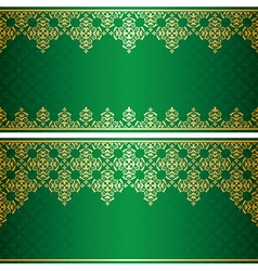 green card with gold vintage ornament vector image vector image