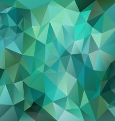 Green emerald polygon triangular pattern vector