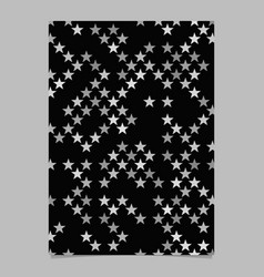 Grey star shape pattern background brochure vector
