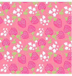 grunge doodle strawberry scattered floral seamless vector image