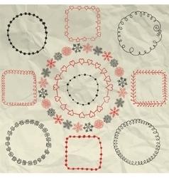Hand Sketched Doodle Frames Design vector