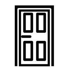 house door icon outline style vector image