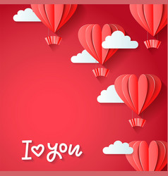 i love you - valentines day greetings card design vector image