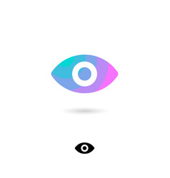icon eye view webcam watching video vector image
