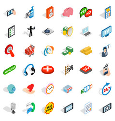 Internet icons set isometric style vector
