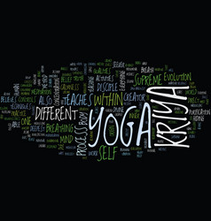 Kriya yoga text background word cloud concept vector