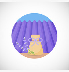 Lavender herbal sachet flat icon vector