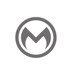 Letter M Logo Concept Icon vector image