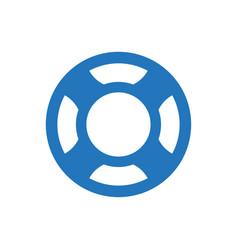 Lifebuoy safety icon vector