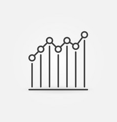 line chart with circles outline concept vector image