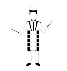 male avatar playing the drum vector image